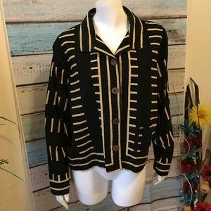 Chico's Design Button Down Jacket Size 1